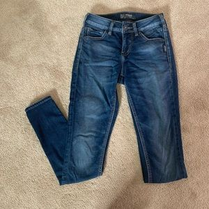 Silver AIKO skinny jeans